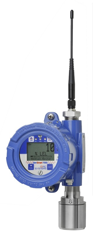 SenSmart 7100 EC Gas Detector in an Aluminum Enclosure