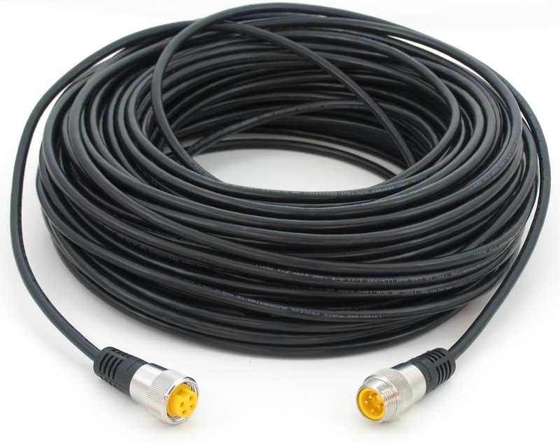 Standard Cables for Sensor and Alarm Bar Quick Connects   15m 4-Pin ...