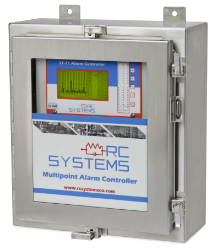 ViewSmart alarm controller that is used as part of an ammonia gas detection monitoring system.